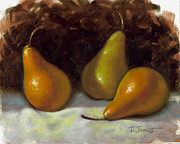 Table Top Framed Prints - Bosc Pears Framed Print by Timothy Jones