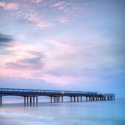 Dorset Prints - Boscombe Pier at Twilight Bournemouth Print by Colin and Linda McKie