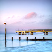 England Landscape Prints - Boscombe Pier Bournemouth England Print by Colin and Linda McKie