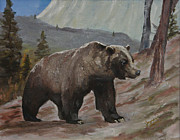 Kodiak Paintings - Boss Bear by Jim Leach