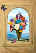 Heem Art - Bosschaert - Flowers in a large roemer by Levin Rodriguez