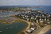 New England Marina Park Prints - Boston Aerial View Print by Alanna Dumonceaux