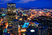 James Kirkikis Prints - Boston at Night Print by James Kirkikis
