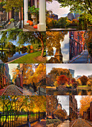 Beacon Hill Posters - Boston Autumn Days Poster by Joann Vitali