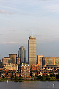 Boston Pyrography Prints - Boston Back Bay with the Prudential Tower Print by Jannis Werner