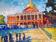 Saturated Paintings - Boston Beacon Hill by Caleb Colon