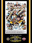 Champions Drawings Framed Prints - Boston Bruins Framed Print by Dave Olsen