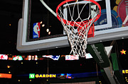 Nba Framed Prints - Boston Celtics Basket Framed Print by Mike Martin