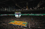 Boston Celtics Framed Prints - Boston Celtics Basketball Framed Print by Juergen Roth