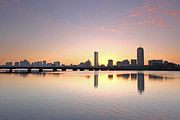 Exterior Pictures Posters - Boston Charles River Morning Bliss Poster by Juergen Roth