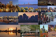 Supermoon Photos - Boston Cityscape Photography by Juergen Roth