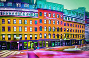 Boston Digital Art Metal Prints - Boston Colors 1 Metal Print by Yury Malkov