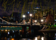 Christmas Holiday Scenery Art - Boston Common Lagoon Bridge 3 by Joann Vitali