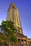 Custom House Tower Posters - Boston Custom House 3 Poster by Joann Vitali