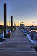 Boston Dock Sunrise Print by Joann Vitali