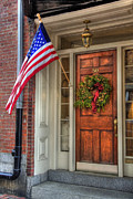 Flag Stone Framed Prints - Boston Doorways 1  Framed Print by Joann Vitali