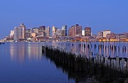 Prudential Center Photo Prints - Boston Downtown and Financial District Print by Juergen Roth