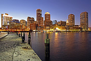 Landscape Format Framed Prints - Boston Fan Pier and Financial District Framed Print by Juergen Roth