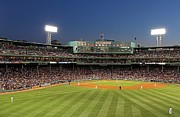 Baseball Field Framed Prints - Boston Fenway Park and Red Sox Nation Framed Print by Juergen Roth