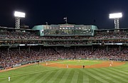 Red Sox Framed Prints - Boston Fenway Park Baseball Framed Print by Juergen Roth