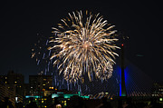Boston Ma Prints - Boston Fireworks 3 Print by Mike Ste Marie