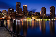 Boston Pyrography Prints - Boston from Fan Pier Print by Wendy Murrin