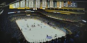 Sports Murals Paintings - Boston Garden Ice by Thomas  Kolendra