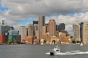 Boston Harbor Framed Prints - Boston Harbor  Framed Print by Catherine Reusch  Daley
