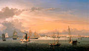Famous Artists - Boston Harbor by Fitz Henry Lane