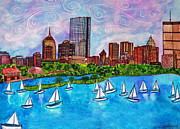Boston Paintings - Boston Harbor by Janet Immordino