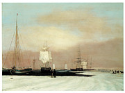 Sailing Ships Prints - Boston Harbor Print by John Blunt