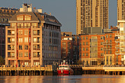 Boston Harbor Framed Prints - Boston Harbor Luxury Living Framed Print by Juergen Roth
