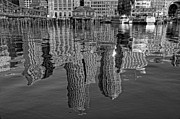 Boston Harbor Photos - Boston Harbor Reflections by Joann Vitali