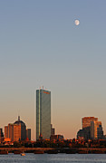Juergen Roth - Boston John Hancock Tower with Moon