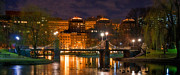 Urban Buildings Prints - Boston Lagoon Bridge 2 Print by Joann Vitali