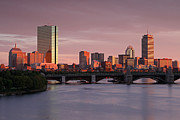 New England Acrylic Prints - Boston Last Light by Juergen Roth