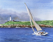 Boston Light Print by Karol Wyckoff
