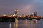 New England Acrylic Prints - Boston Lightning Thunderstorm by Juergen Roth