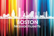 Boston Digital Art Metal Prints - Boston MA 2 Metal Print by Angelina Vick
