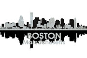 Massachusetts Mixed Media Posters - Boston MA 4 Poster by Angelina Vick