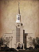 Boston Ma Prints - Boston MA Temple Print by David Simpson
