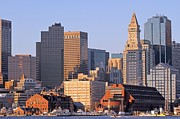 Custom House Tower Photos - Boston Marriott Long Wharf by Juergen Roth