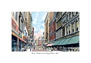 Boston Ma Digital Art Posters - Boston Massachusetts - Washington Street - 1935 Poster by John Madison