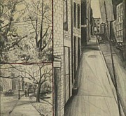 Charles River Drawings - Boston Memories by Michael Anthony Edwards