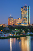 Charles River Art - Boston Night Skyline I by Clarence Holmes