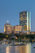 River - Boston Night Skyline IV by Clarence Holmes