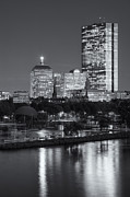 Charles River Art - Boston Night Skyline VII by Clarence Holmes