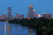 Charles River Art - Boston Nightscape by Juergen Roth