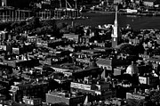 Boston Framed Prints - Boston Old North Church Black And White Framed Print by Benjamin Yeager