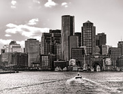 Boston Skyline Posters - Boston Poster by Olivier Le Queinec